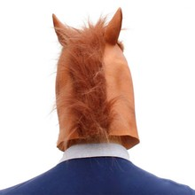 Halloween New Year Decoration Horse Head Mask Horseman Party Latex Animal For Costume