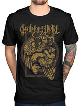 Crown the Empire Stone Wolves 2 T-Shirt Andrew Valasquez The Fallout 100% Cotton Short Sleeves Tee Shirts top tee
