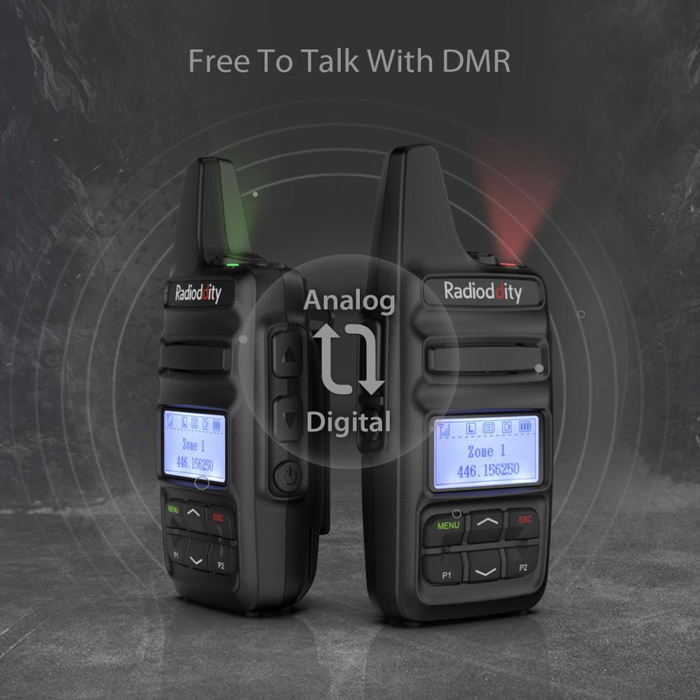 חלקי חילוף לקטנועים Radioddity GD-73 A / E מיני DMR UHF / PMR IP54 USB תוכנית & Charge 2600mAh SMS Hotspot השתמש 2W 0.5W מפתח בהתאמה אישית שני הדרך רדיו (5)