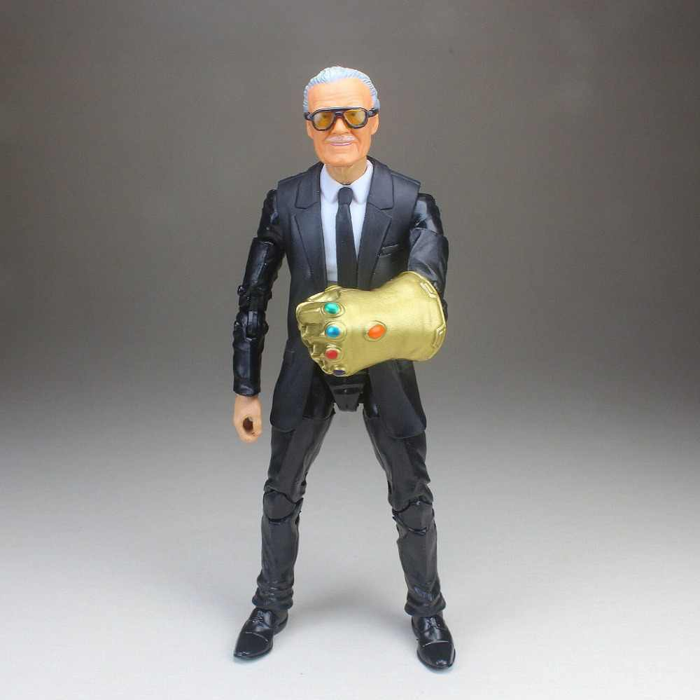 "Marvel Legends Custom Excelsior Stan Lee Sculp Cabeça Terno Do Corpo Preto Infinity Gauntlet 6 ""Loose Action Figure TOY GRÁTIS GRÁTIS"