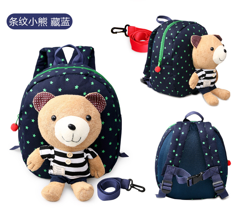 Hot Sale 1-3 Years Old Baby Gift Keeper Toddler Walking Safety Harnesses Bear Backpack Strap Bag 1pcs Free Shipping