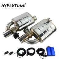 Stainless Steel 2.5 3 Slant Outlet Tip Inlet Variable Exhaust Muffler Weld With Electrical Exhaust Cutout Electric Control Kit