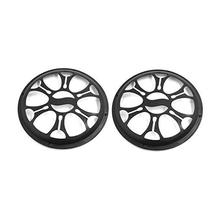 Adeeing 2pcs 6.5 inch Universal Car Plastic Grill Cover Fits 6 Inch Speaker Subwoofer Protective R30