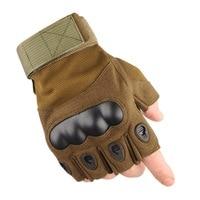Taktik Ordu Eldiven Adam Yarım parmak Airsoft eldiven, askeri erkekler için kaymaz Savaş Paintball bisiklet Motosiklet eldiven