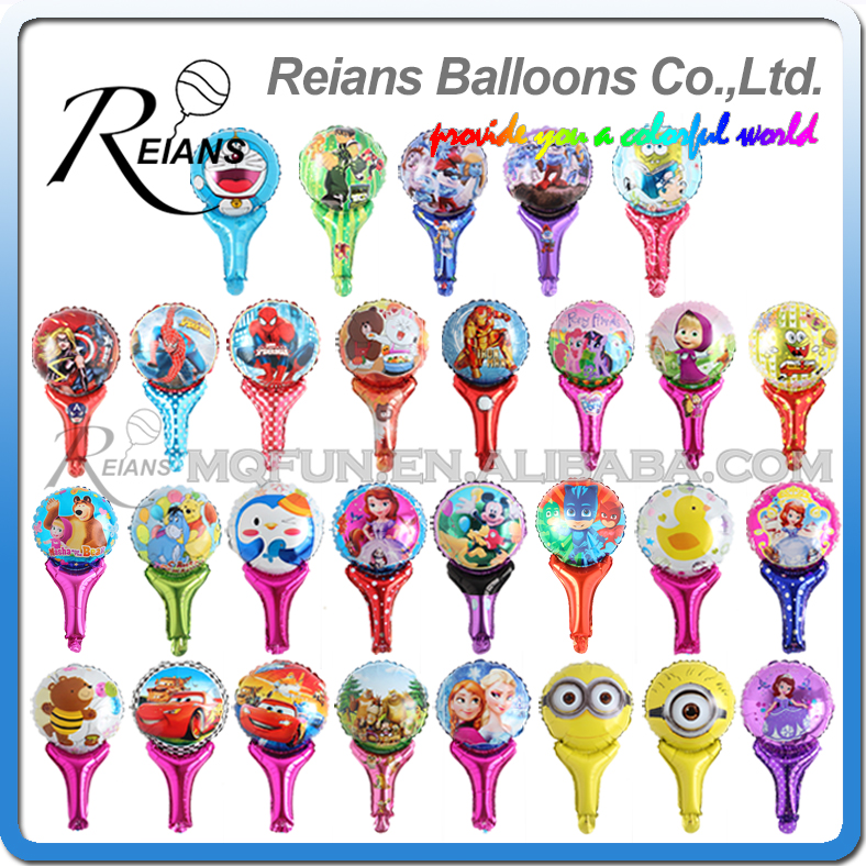 Wholesale 1000pcs REIANS 51cm Anime cartoon kids girls Doraemon iron man handheld birthday aluminum foil balloon party supplies
