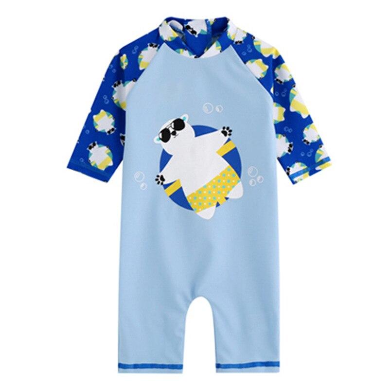c545a4dea7faf 2018 Newbaby Girls Swimsuit Bear One piece Cartoon Boys Baby Swimwear Kids  Girl Bathing Suit Moana 2 8 Years Old To Wear-in Children's One-Piece Suits  from ...