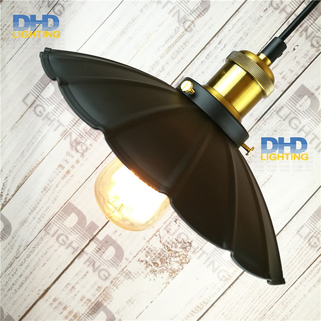 Free shipping iron Umbrella shade  vintage pendant lamp