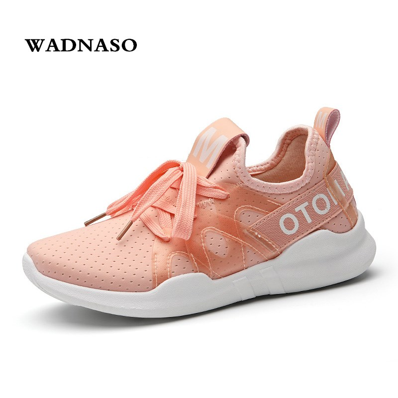 Comfortable breathable PU + mesh womens platform Clunky shoes 2018 fashion women dad white shoes casual womens lace shoes