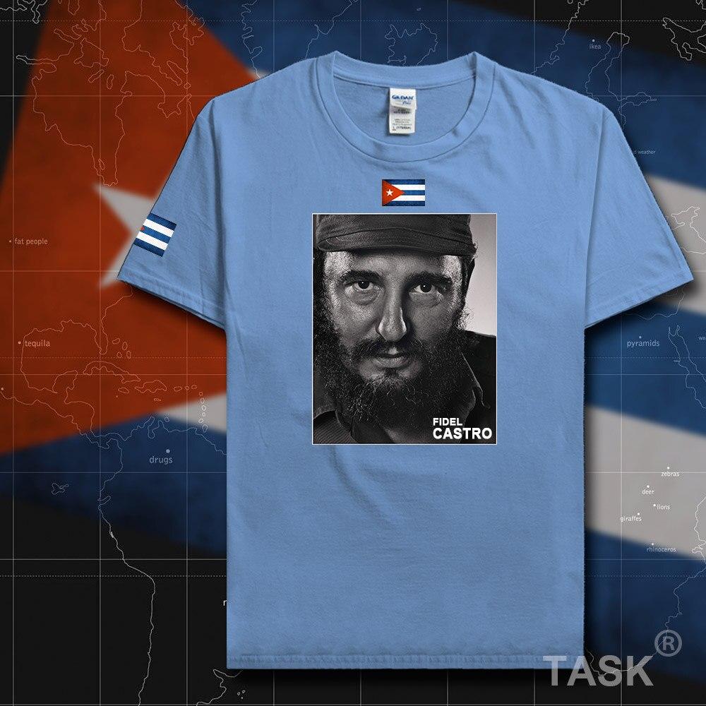 Fidel CASTRO CHE reflection CUBA Flag 100/% cotton revolution mens t-shirt