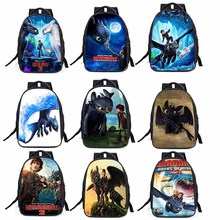 How to Train Your Dragon 3 Toothless light Fury Anime Night Fury Primary school student Backpack Big capacity burden backpack how to train your dragon school bag noctilucous backpack student school bag notebook backpack daily backpack