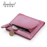 Новый кожаный мини бумажник  женский кожаный короткий компактный мини многофункциональный кожаный бумажник