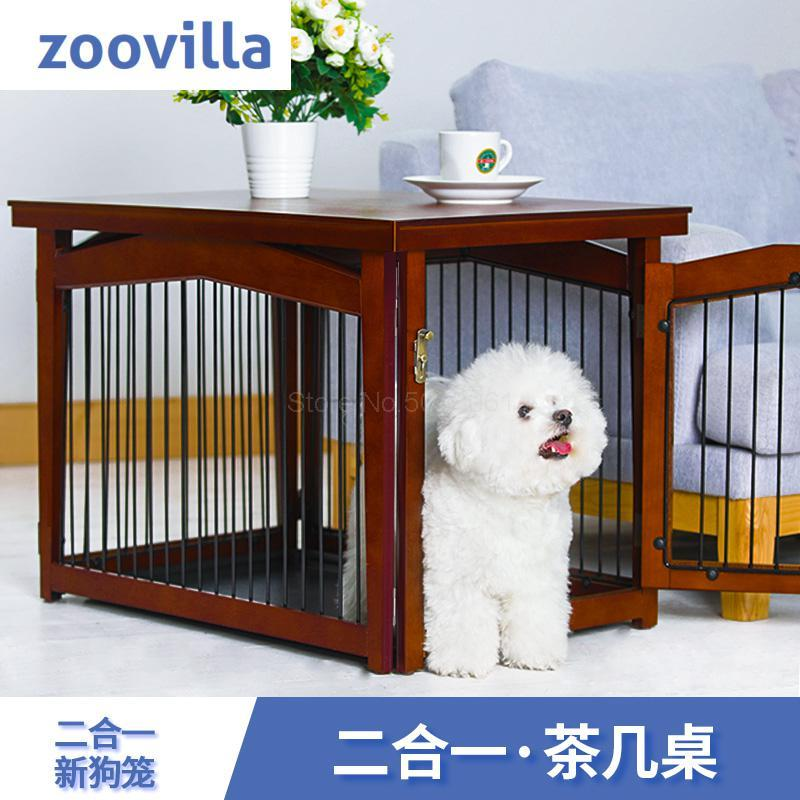 Wooden Indoor Dog Kennel Cat Litter Anti Corrosion Pet Furniture