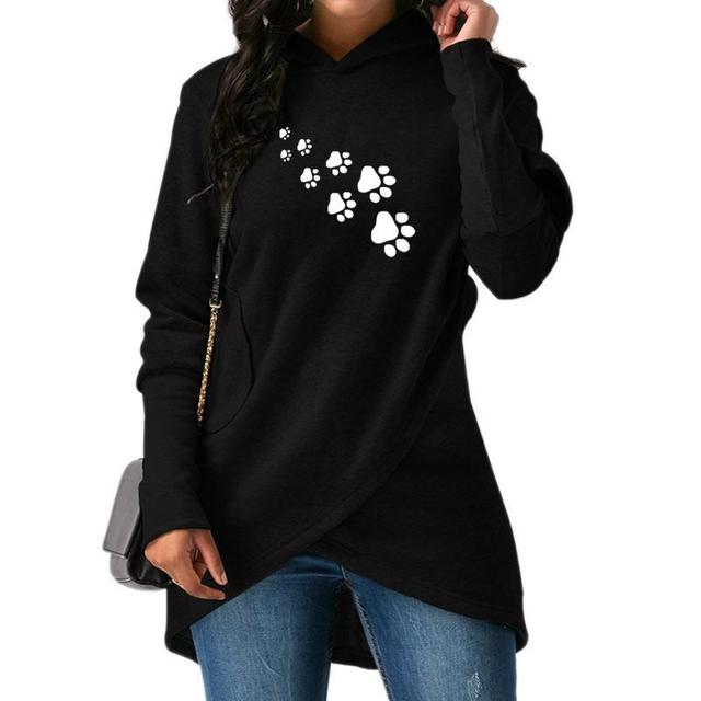 Women's Pet Paws Printed Sweatshirt