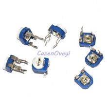 500 шт./лот RM065 RM 065 100 200 500 1K 2K 5K 10K 20K 50K 100K 200K 500K 1M ohm Trimpot Триммер Потенциометр переменный резистор