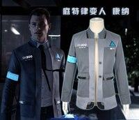 Detroit: Become Human Cosplay Costume Connor Cosplay Uniform Men Jacket White Shirt Tie RK800 Coat Costume Full Set