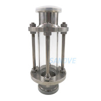 homebrew beer brewing, 38mm 304 Stainless Steel Sanitary Fitting 2 Tri Clamp type Flow Sight Glass