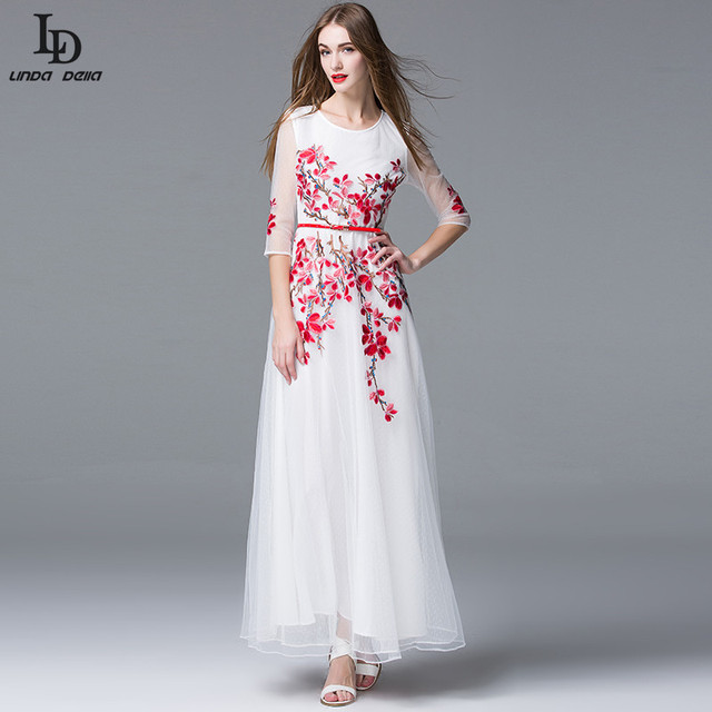 Aliexpress.com : Buy High Quality Newest Fashion 2016 Runway Maxi ...