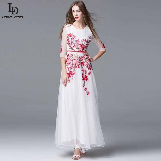 Aliexpress.com : Buy High Quality Newest Fashion 2016 Runway Maxi ...