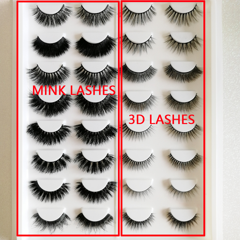 lashes book16 Pairs of mink Lashes silk lashes mixed styles Fashion Women Makeup Real Mink Hair Natural Soft False Eyelashes