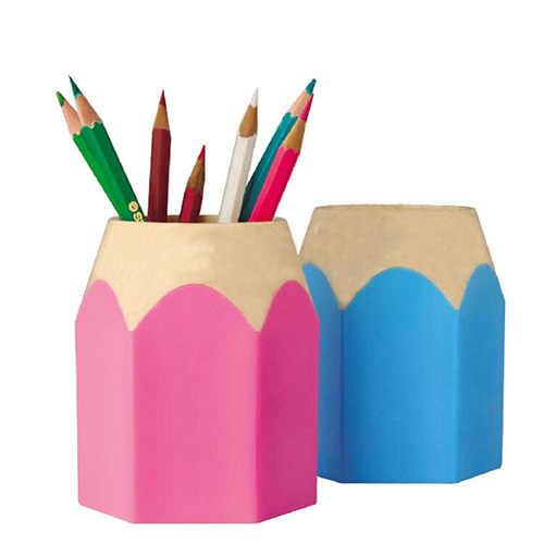 ปากกาแจกันดินสอหม้อแปรงแต่งหน้าแปรงแต่งหน้าเครื่องเขียน Tidy คอนเทนเนอร์ AIZB