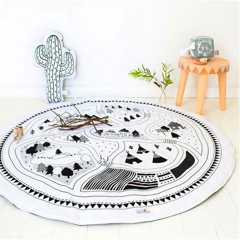 modern play house reviews  online shopping modern play house  -  kids game mats baby crawling blanket round play mat chilren play rugracing games carpet infant room  cotton