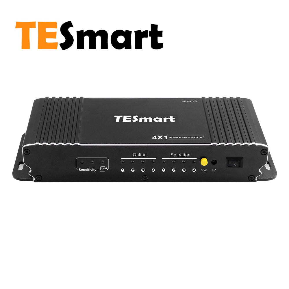 TESmart High Quality 4 Port USB KVM HDMI Switch with Extra USB 2 0 Port Support