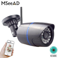 H.264+ Wifi 2.0MP 1mp IP Camera Built In SD Card Slot 1920*1080P P2P Wireless Email Push Night Vision IR Filter Outdoor CCTV