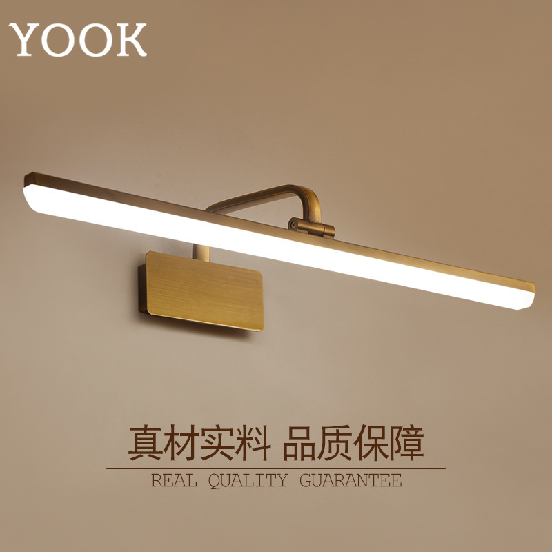 YOOK 68cmX23cm Retro Led Wall Lamp for Bathroom Mirror Cabinet Wall Lamp Waterproof Wall Lamp Makeup Mirror Headlight 110V 220V antique led mirror lamp wall lamp toilet bathroom cabinet antifog light led retro makeup mirrorlamp fitting modeling wall sconce