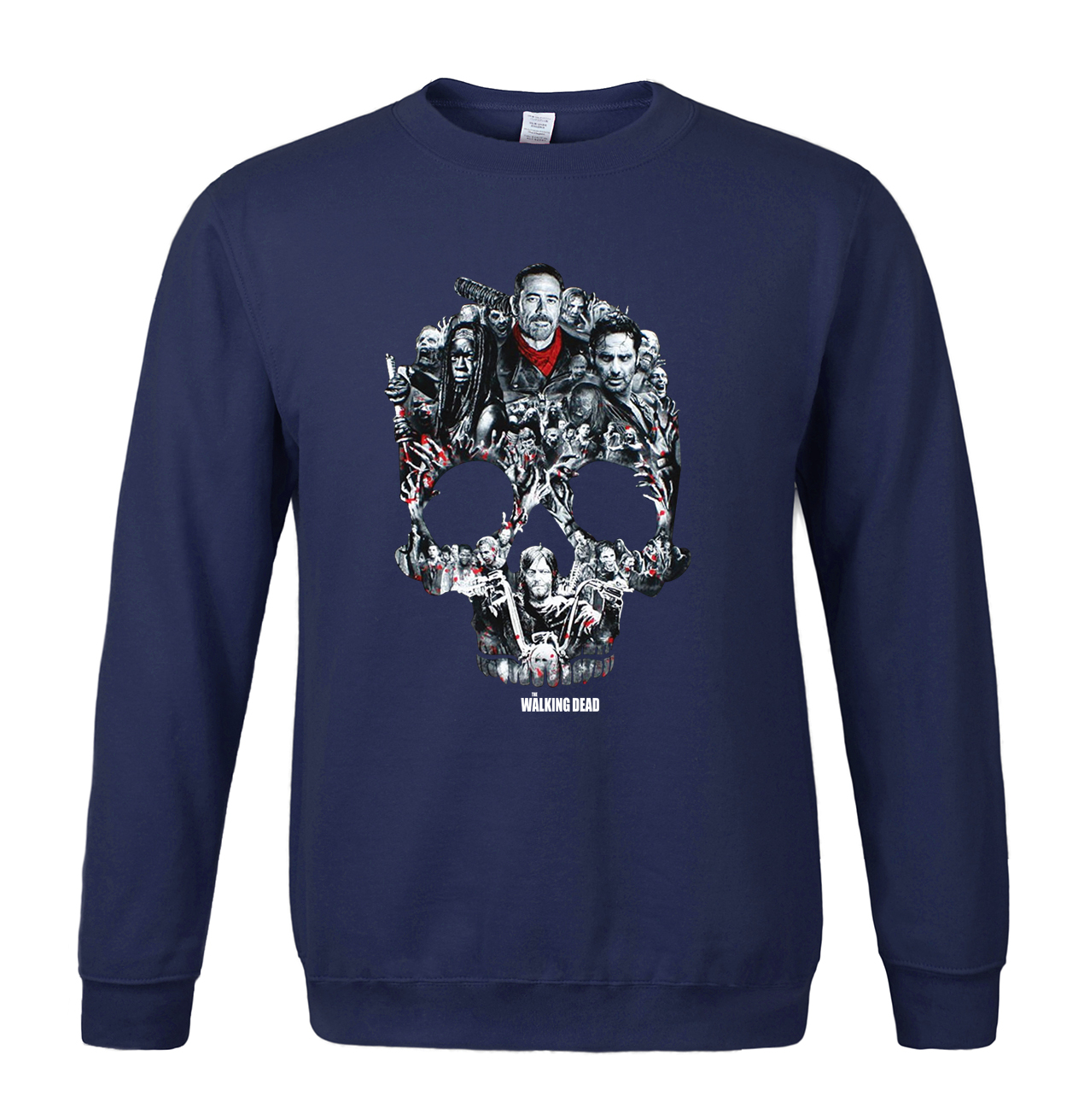 2019 Fashion Casual Sweatshirts Funny Print skull High quality O-neck Sweatshirt Hipster men Brand Loose Pullover Harajuku Kpop