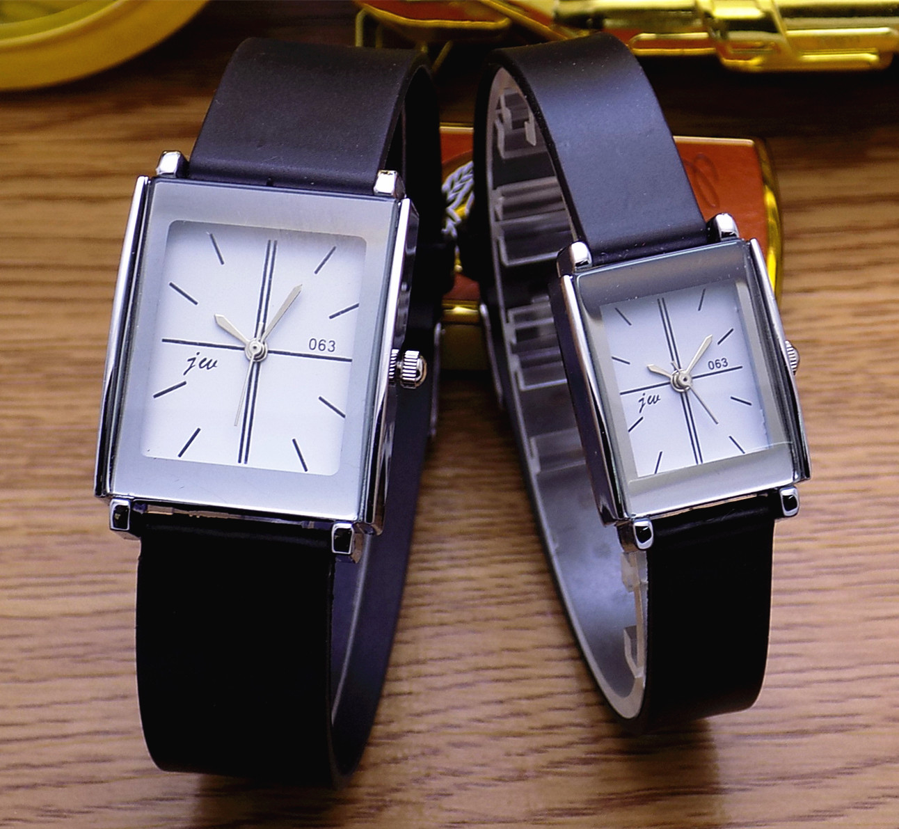 Fashion Jw Brand Casual Quartz Women Men Lover Clock Leather Strap Student Watch Business Square Wristwatches