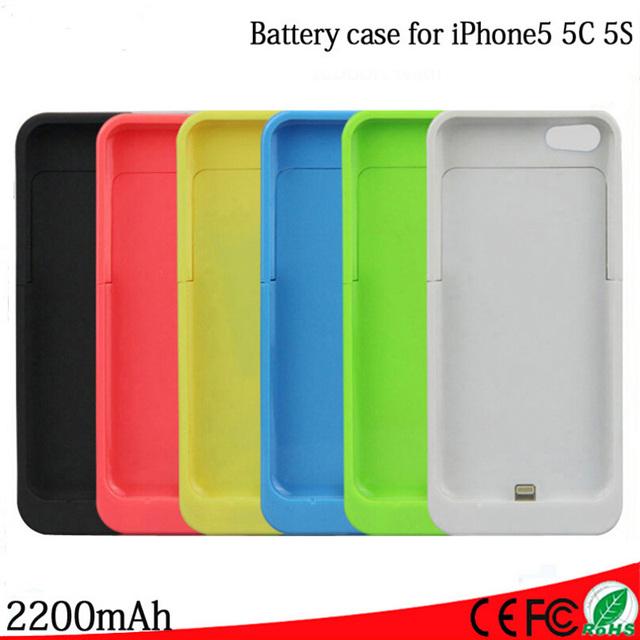 2200 mah para o caso iphone 5 5s 5c se carregador de bateria externo portátil banco do poder de backup de carregamento caso capa para iphone 5 5s 5c se