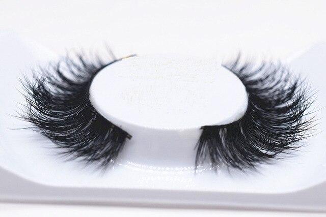 2017 New 1 pair 3D mink eyelash 100%real mink Fur Handmade Crossing lashes individual strip thick Natural lash makeup beuty tool
