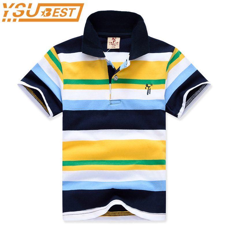 Boy Kid Stripe Top Tees 2-11yrs Baby Boys T shirts Summer 2018 Boys Cotton T shirts Shorts Sleeve Children Clothing Boys Clothes top and top summer toddler boy clothes gentleman boy clothing set bow tie romper top straps shorts boys wedding party clothes
