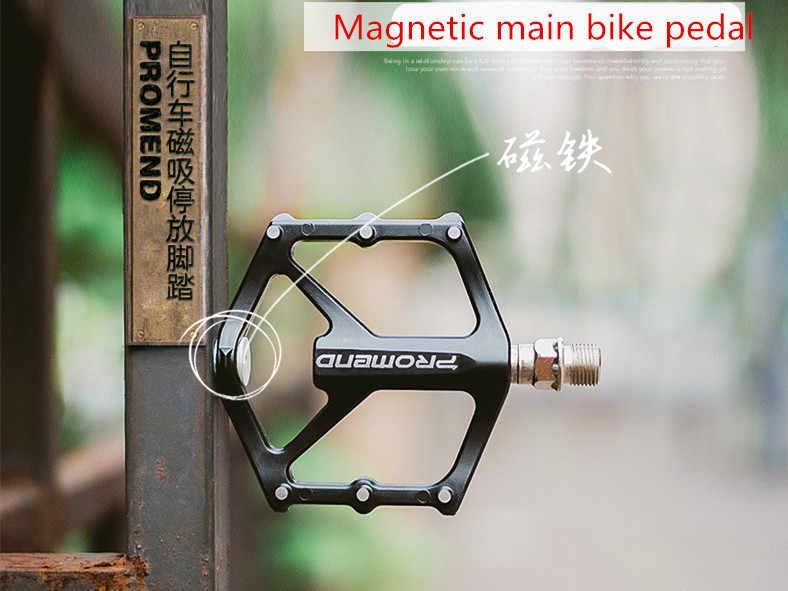 1 par de pedales antideslizantes de bicicleta de montaña estacionamiento magnético 3 rodamiento sensible bikini pedal mtb