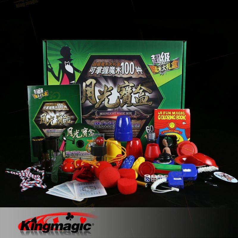 ФОТО free shipping magic tricks Magic Castle Set (Moonlight Set B)30 Tricks Magic Set surprise game gift box hot selling