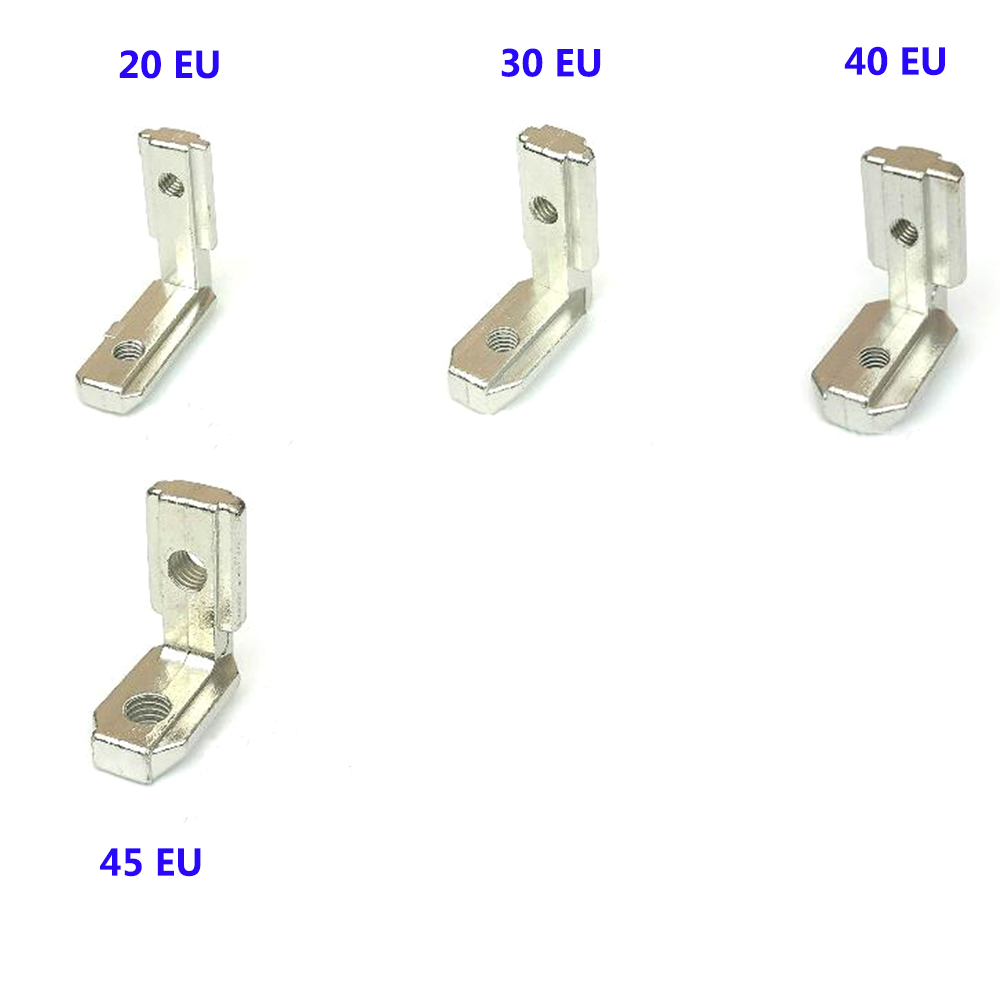 5PCS T Slot L-Shape Aluminum Profile Interior Corner Connector Joint Bracket For 2020 3030 4040 4545 EU Alu-profile With Screws