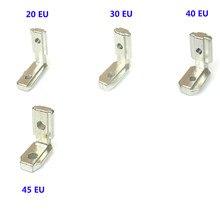 5 stücke T Slot L-Form Aluminium Profil Innen Ecke Verbinder Gemeinsamen Halterung für 2020 3030 4040 4545 EU alu-profil mit schrauben