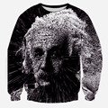 2015 Newest Retro Men High quality 3D Character Hoodies Funny printed Einstein sweatshirts hoody