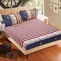 3 шт. простыня с наволочкой с голубым цветочным принтом  постельное белье  матрацы для королевы  простыни с эластичным размером