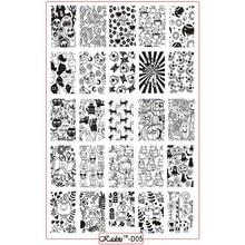 1Pcs 9.5x14.5cm Kadou Series Design Stamp Image Nail Art Templates DIY Cartoon Animal Halloween Stamping Plates KD05#