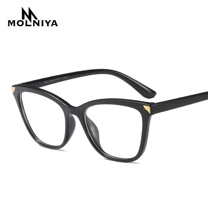 0d7fefb94b793 ... MOLNIYA 2019 Transparent Women Eyeglasses Frames Fashion Square Cat Eye  Glasses Frame Women Brand Design Trendy ...