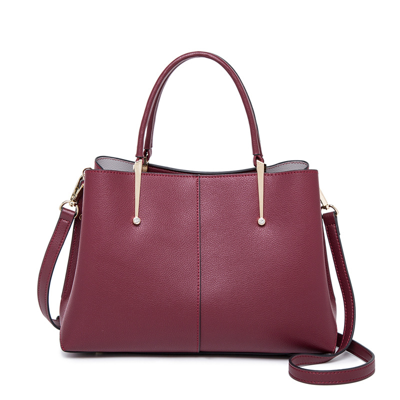 Bags Women Purple High Capacity Split Leather Tote Bags Party Office Shoulder Crossbody Bags Torebki Damskie