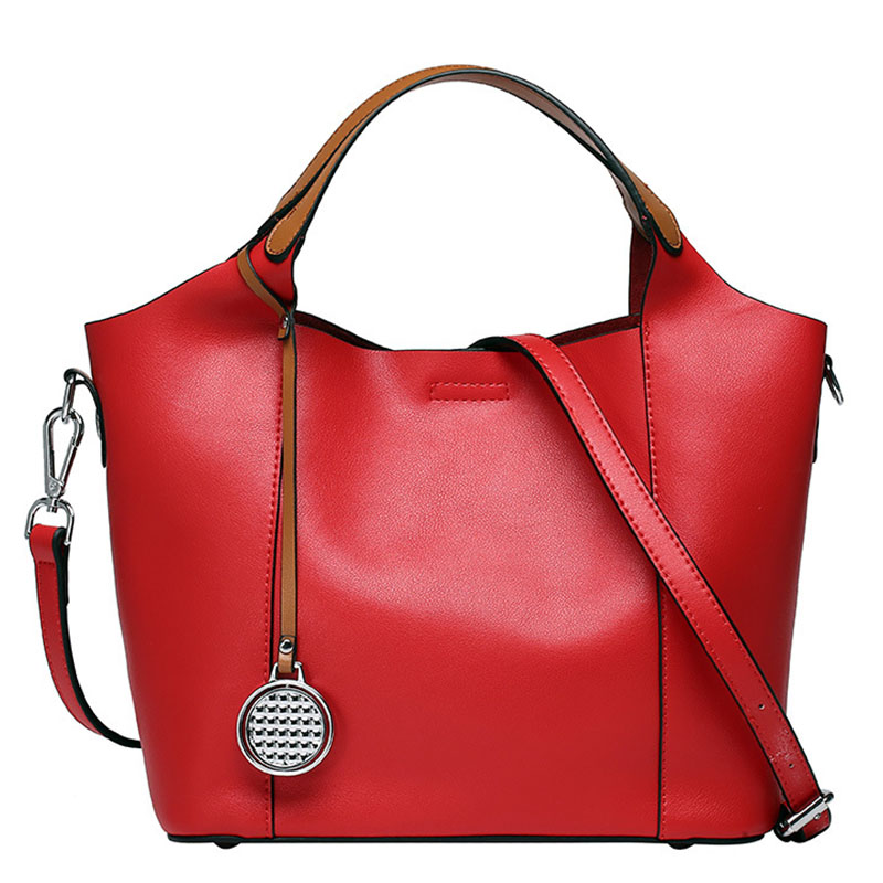 New Fashion Genuine Leather Handbag Women bags Soft Cowhide Tudor Casual Tote Crossbody bag Women's Messenger Shoulder bags 2018 women floral leather shoulder bag new 2017 girls clutch shoulder bags women satchel handbag women bolsa messenger bag