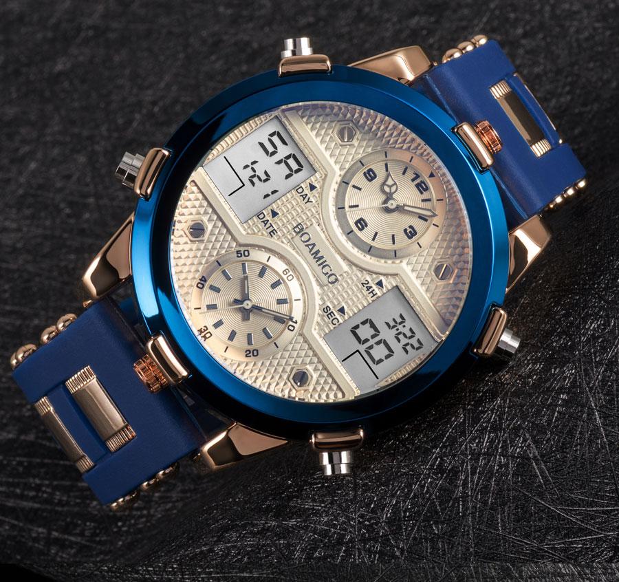 HTB1wFbdc75E3KVjSZFCq6zuzXXaS BOAMIGO Mens Watches Top Luxury Brand Men Sports Watches Men's Quartz LED Digital 3 Clock man Male Wrist Watch relogio masculino