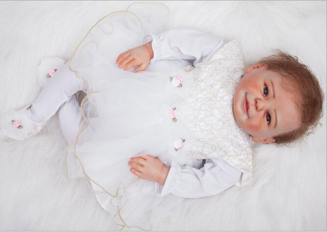 Soft Vinyl Kawaii Reborn Baby Dolls 20 inches Doll Reborn with Clothes Newborn Realistic bebe Reborn Dolls Babies Toys Juguetes in Dolls from Toys Hobbies