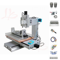 metal cnc engraving 5 Axis wood router 2200W 3040 High Precision Column Type Drilling Milling Machine with cutter collet clamp