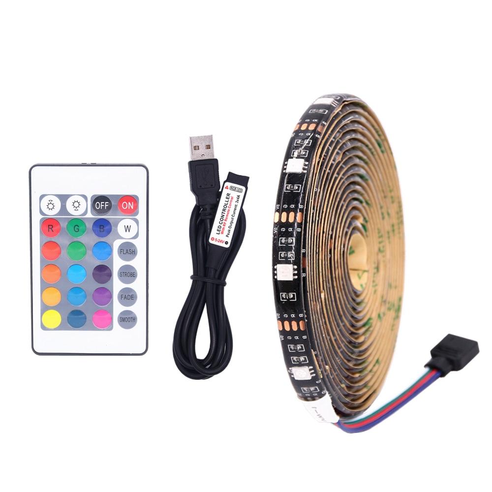 DC 5V 5050 USB led strip Lights Waterproof Led RGB TV Background Lighting DIY Decorative flexible Christmas lights