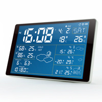 Newest Premium LED snooze alarm clock with backlight calendar weather station digital clock desktop clock Support Bluetooth APP