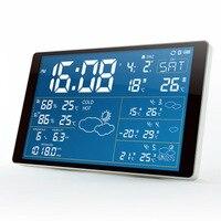 Newest Premium LED snooze alarm clock with backlight calendar weather station digital clock desktop clock Support Bluetooth APP