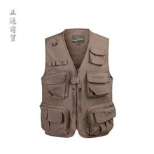 new men Multi-pocket Mens Vests Mesh Travels Tops Men s Vest Quick Dry Sleeveless Jacket Photographer